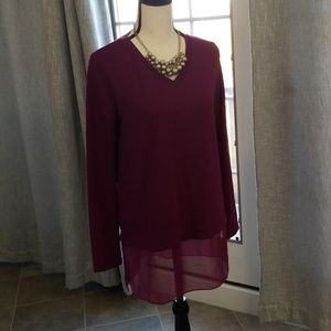 Kenneth Cole Reaction top with sheer bottom. NWT